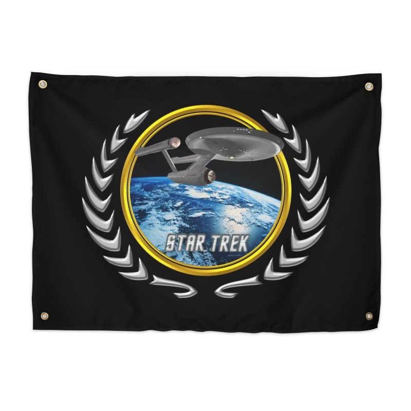Star trek Federation of Planets Enterprise 1701 old Home Tapestry by ratherkool's Artist Shop