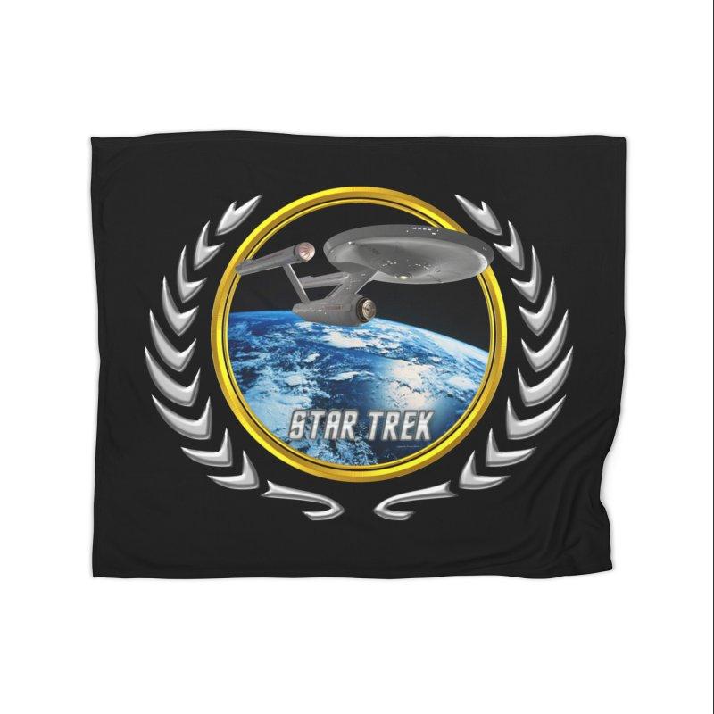 Star trek Federation of Planets Enterprise 1701 old Home Blanket by ratherkool's Artist Shop