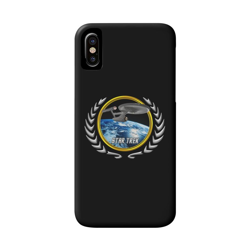 Star trek Federation of Planets Enterprise 1701 old Accessories Phone Case by ratherkool's Artist Shop