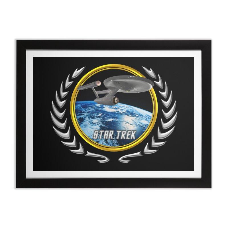Star trek Federation of Planets Enterprise 1701 old Home Framed Fine Art Print by ratherkool's Artist Shop