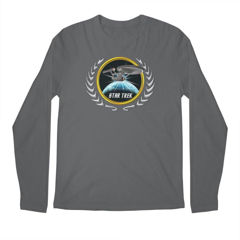 Star trek Federation of Planets Enterprise 1701 old 2 Men's Longsleeve T-Shirt by ratherkool's Artist Shop