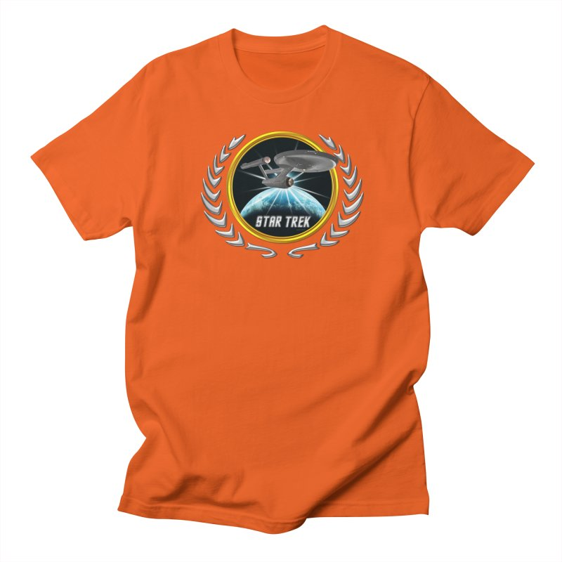 Star trek Federation of Planets Enterprise 1701 old 2 Men's T-Shirt by ratherkool's Artist Shop