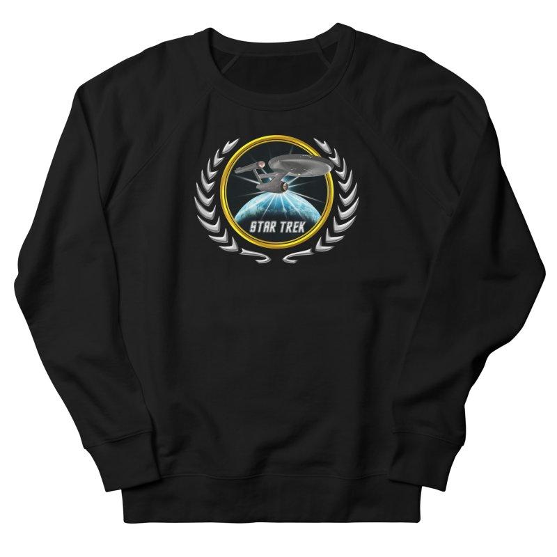Star trek Federation of Planets Enterprise 1701 old 2 Men's Sweatshirt by ratherkool's Artist Shop