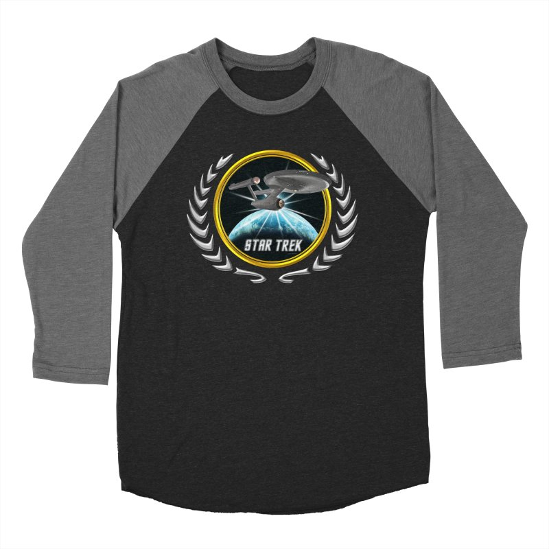 Star trek Federation of Planets Enterprise 1701 old 2 Women's Baseball Triblend T-Shirt by ratherkool's Artist Shop