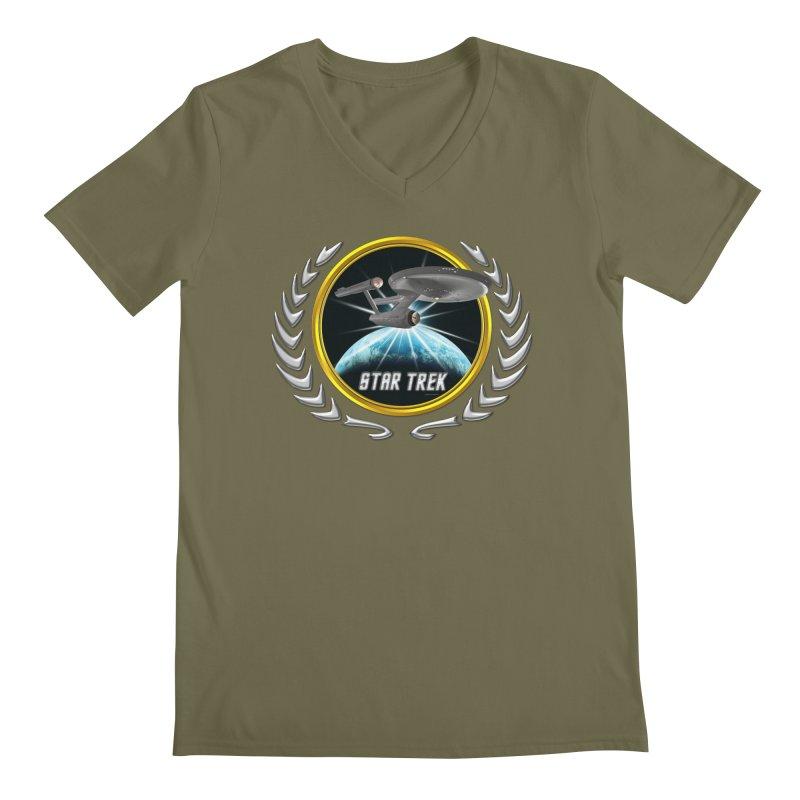 Star trek Federation of Planets Enterprise 1701 old 2 Men's V-Neck by ratherkool's Artist Shop