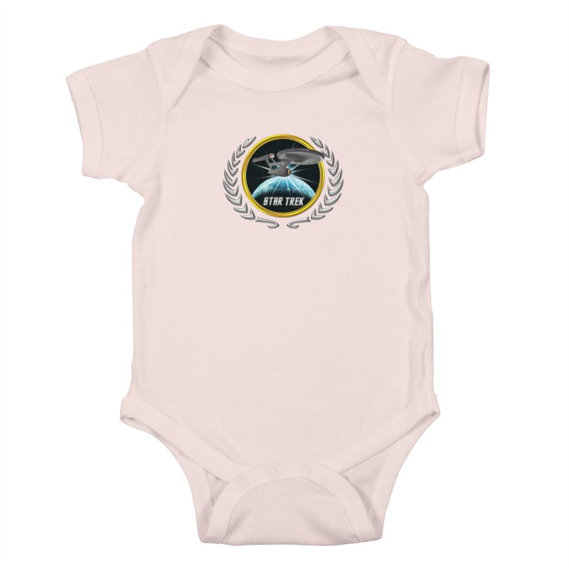 Star trek Federation of Planets Enterprise 1701 old 2 Kids Baby Bodysuit by ratherkool's Artist Shop