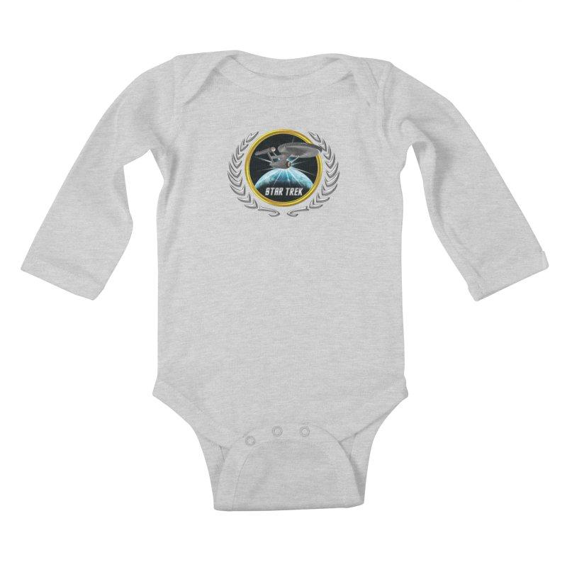 Star trek Federation of Planets Enterprise 1701 old 2 Kids Baby Longsleeve Bodysuit by ratherkool's Artist Shop