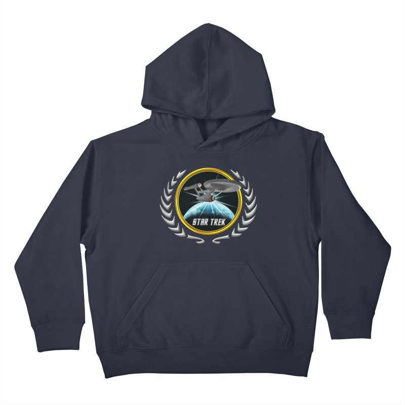 Star trek Federation of Planets Enterprise 1701 old 2 Kids Pullover Hoody by ratherkool's Artist Shop