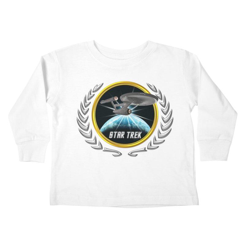 Star trek Federation of Planets Enterprise 1701 old 2 Kids Toddler Longsleeve T-Shirt by ratherkool's Artist Shop