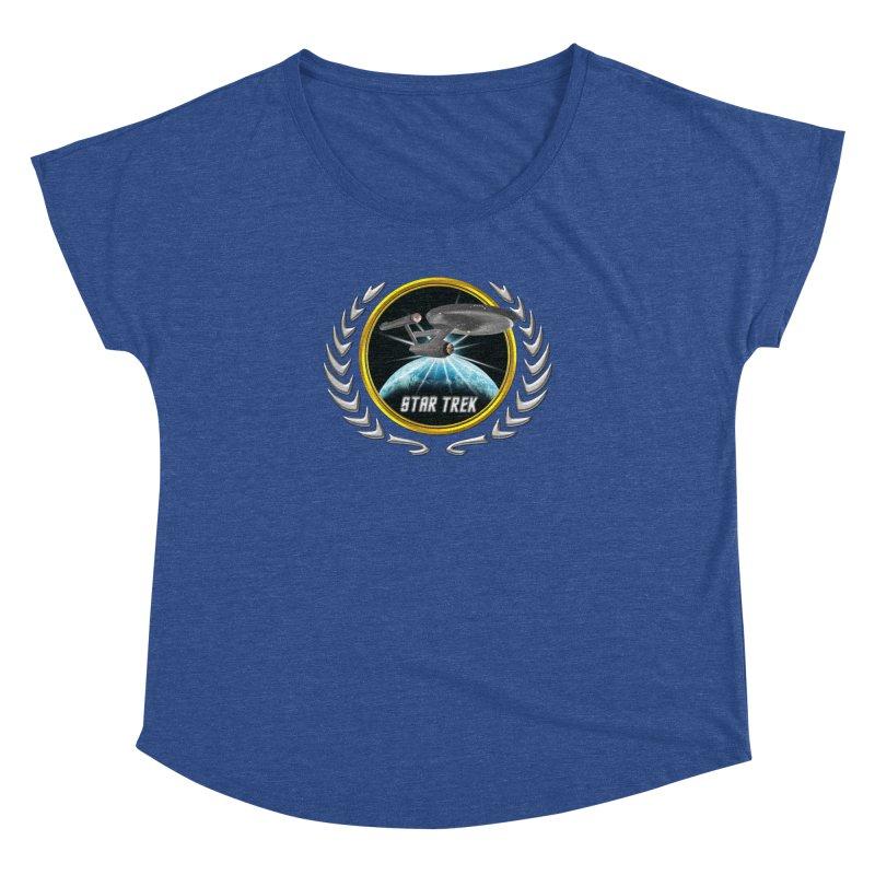 Star trek Federation of Planets Enterprise 1701 old 2 Women's Dolman by ratherkool's Artist Shop