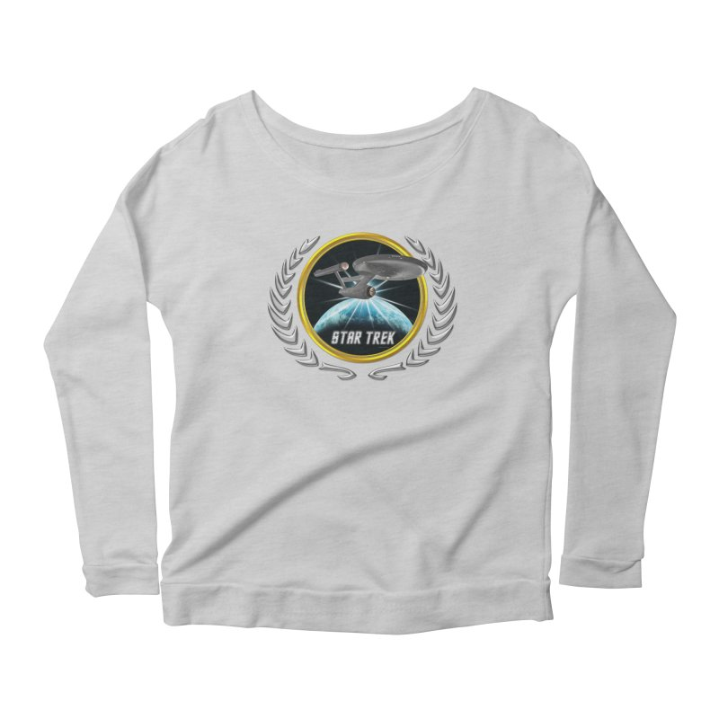 Star trek Federation of Planets Enterprise 1701 old 2 Women's Longsleeve Scoopneck  by ratherkool's Artist Shop