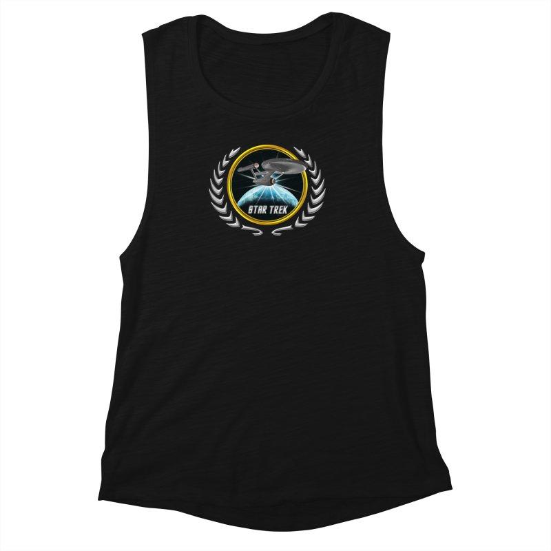Star trek Federation of Planets Enterprise 1701 old 2 Women's Muscle Tank by ratherkool's Artist Shop