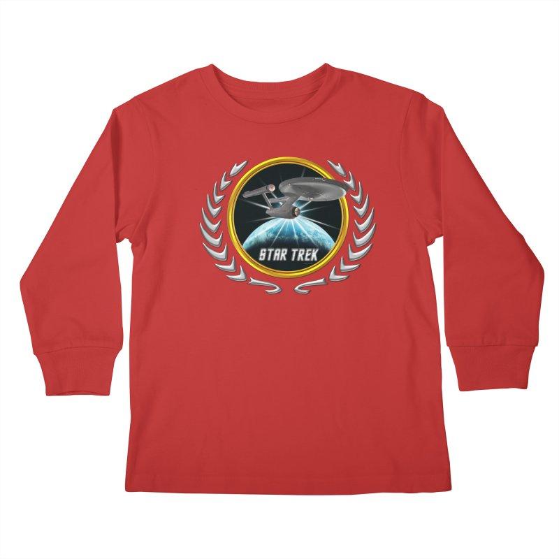 Star trek Federation of Planets Enterprise 1701 old 2 Kids Longsleeve T-Shirt by ratherkool's Artist Shop
