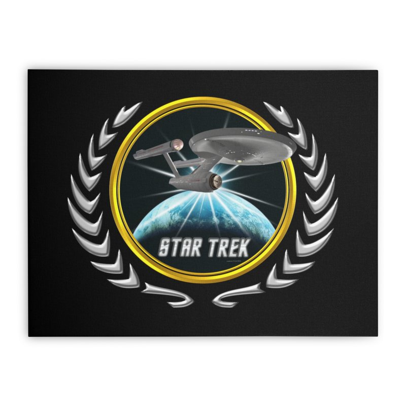 Star trek Federation of Planets Enterprise 1701 old 2 Home Stretched Canvas by ratherkool's Artist Shop