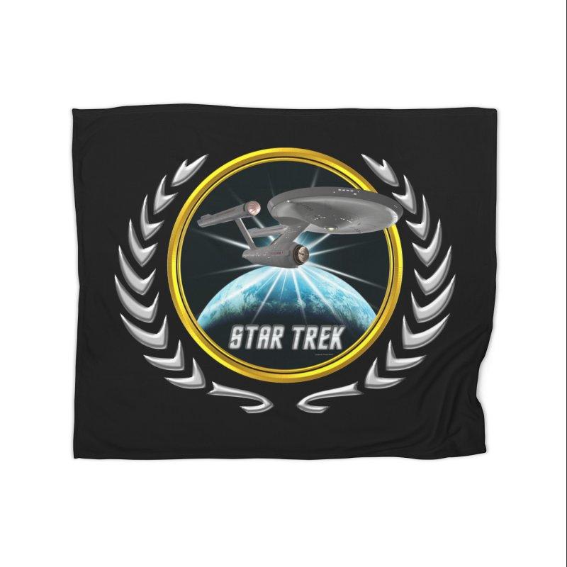 Star trek Federation of Planets Enterprise 1701 old 2 Home Blanket by ratherkool's Artist Shop