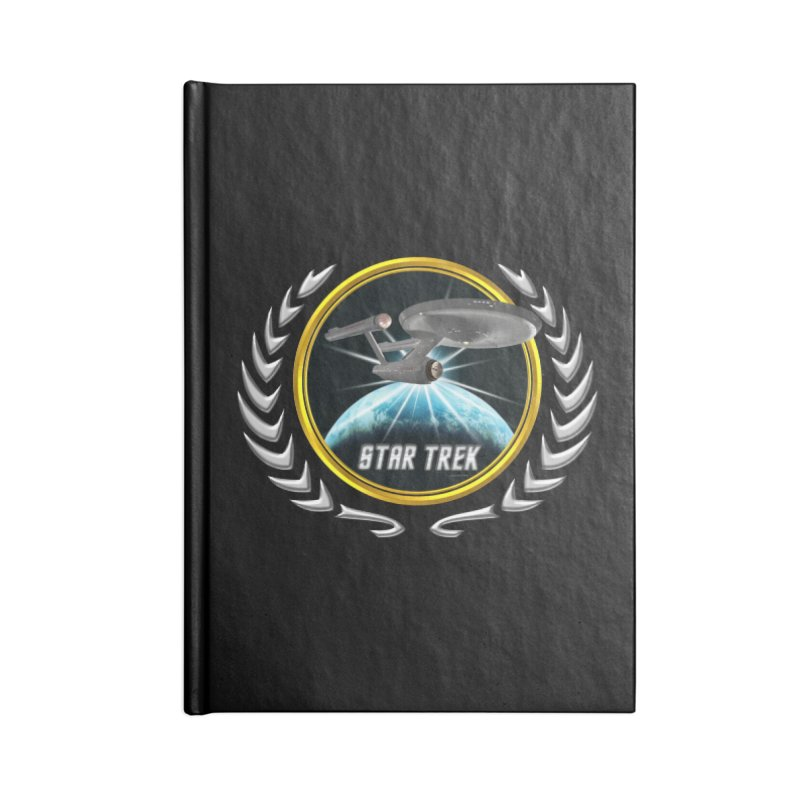 Star trek Federation of Planets Enterprise 1701 old 2 Accessories Notebook by ratherkool's Artist Shop