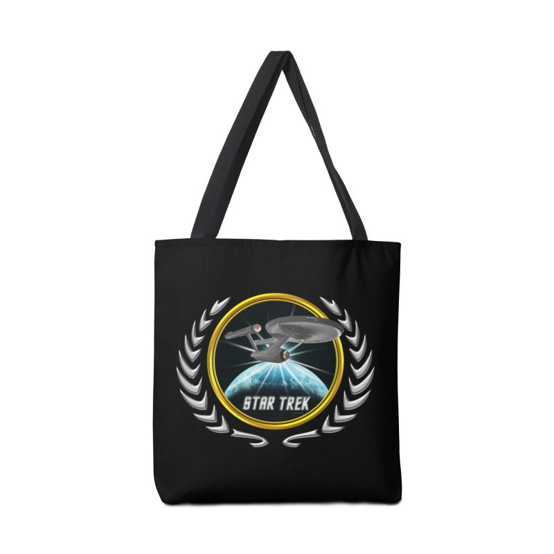 Star trek Federation of Planets Enterprise 1701 old 2 Accessories Bag by ratherkool's Artist Shop
