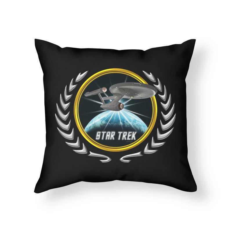 Star trek Federation of Planets Enterprise 1701 old 2 Home Throw Pillow by ratherkool's Artist Shop