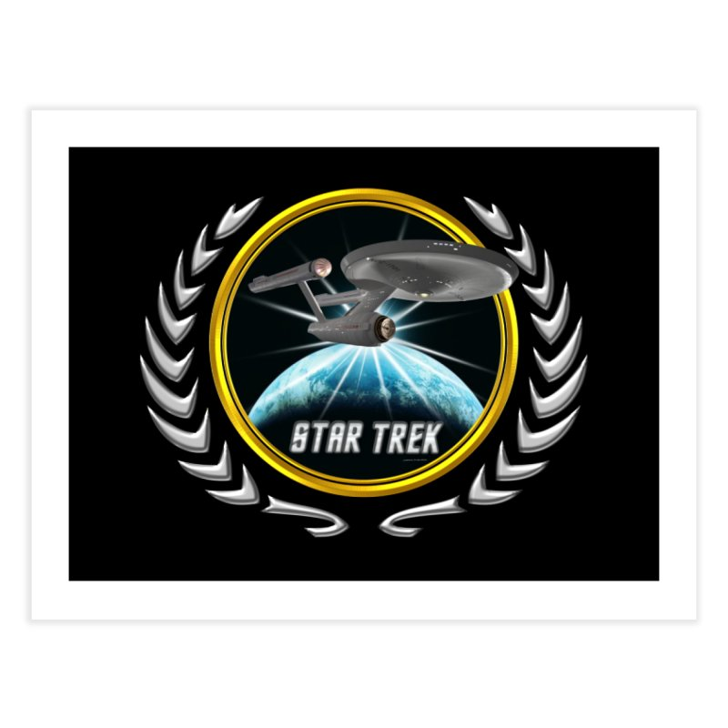 Star trek Federation of Planets Enterprise 1701 old 2 Home Fine Art Print by ratherkool's Artist Shop