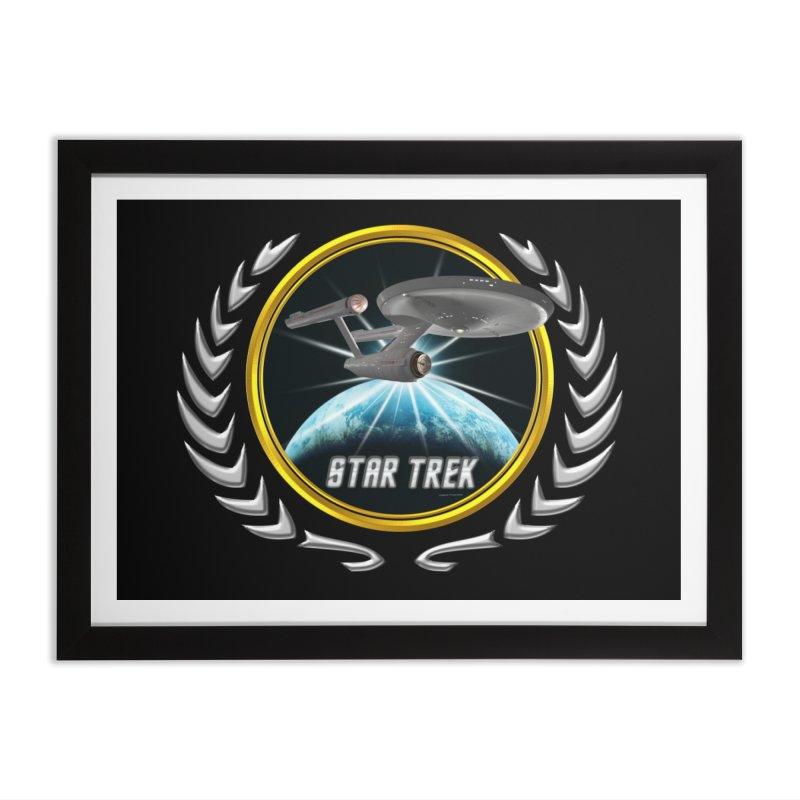 Star trek Federation of Planets Enterprise 1701 old 2 Home Framed Fine Art Print by ratherkool's Artist Shop