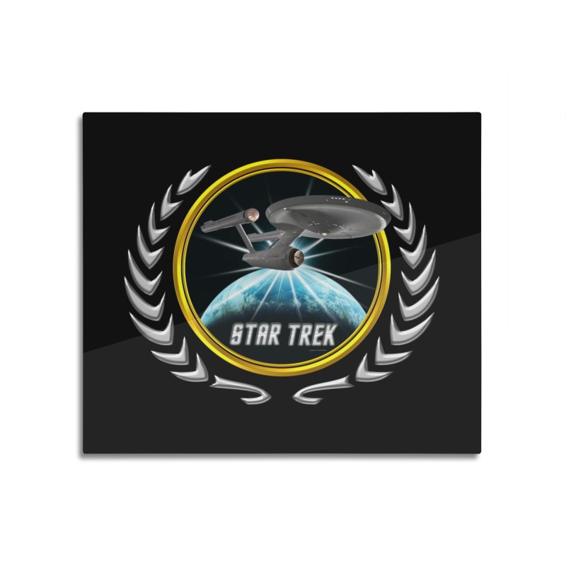 Star trek Federation of Planets Enterprise 1701 old 2 Home Mounted Aluminum Print by ratherkool's Artist Shop
