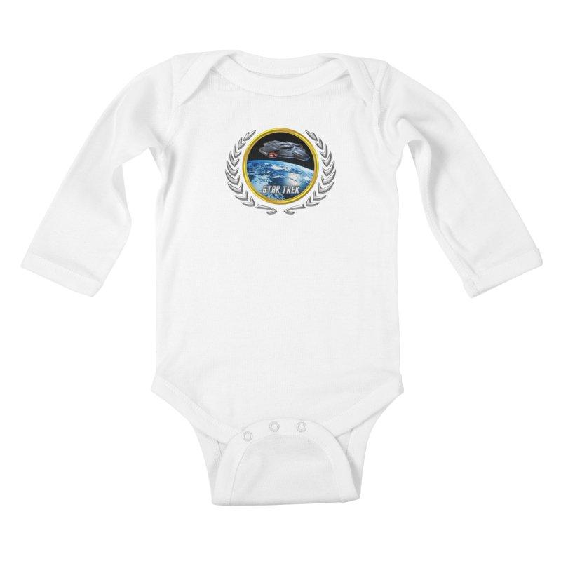 Star trek Federation of Planets defiant Kids Baby Longsleeve Bodysuit by ratherkool's Artist Shop