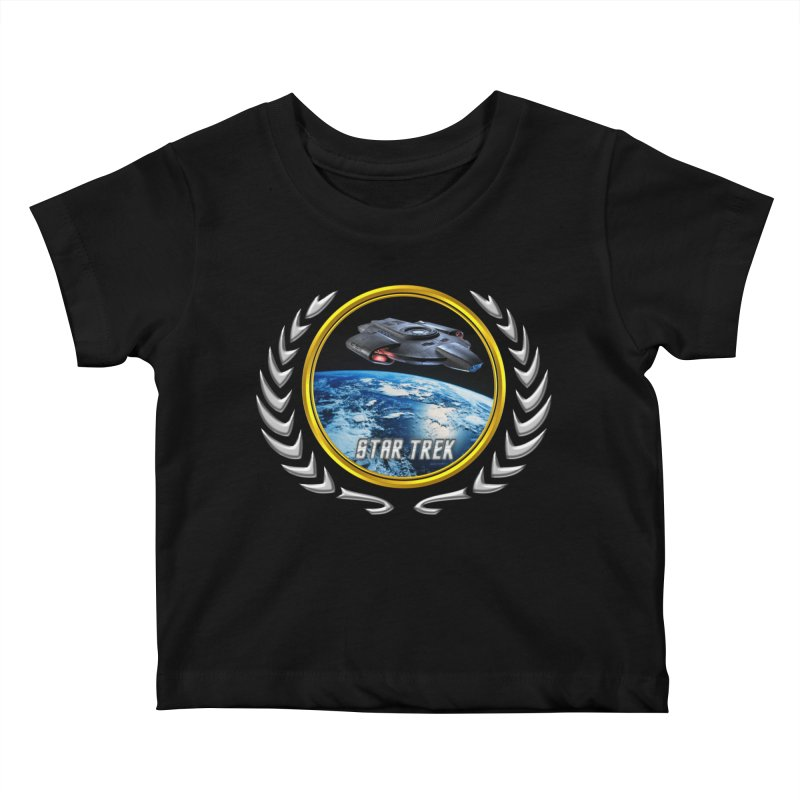 Star trek Federation of Planets defiant Kids Baby T-Shirt by ratherkool's Artist Shop