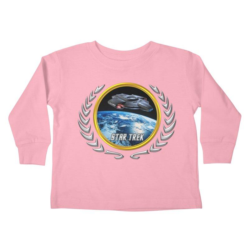 Star trek Federation of Planets defiant Kids Toddler Longsleeve T-Shirt by ratherkool's Artist Shop