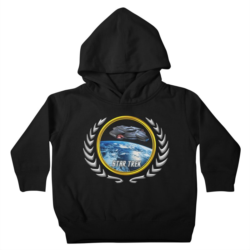 Star trek Federation of Planets defiant Kids Toddler Pullover Hoody by ratherkool's Artist Shop