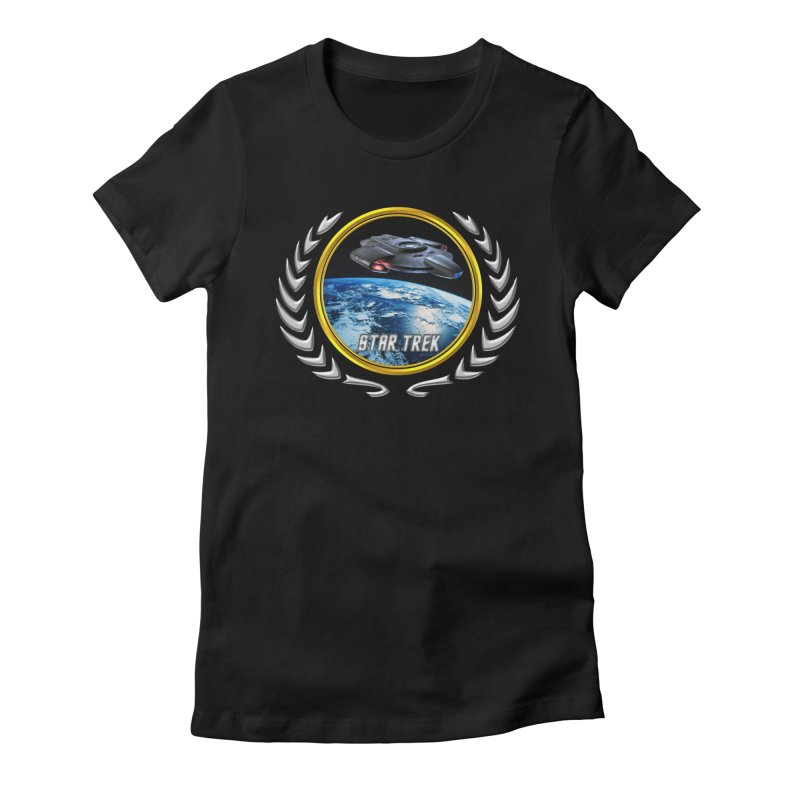 Star trek Federation of Planets defiant in Women's Fitted T-Shirt Black by ratherkool's Artist Shop