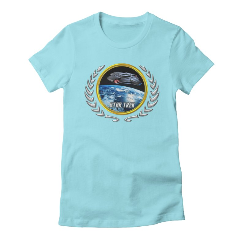 Star trek Federation of Planets defiant Women's Fitted T-Shirt by ratherkool's Artist Shop