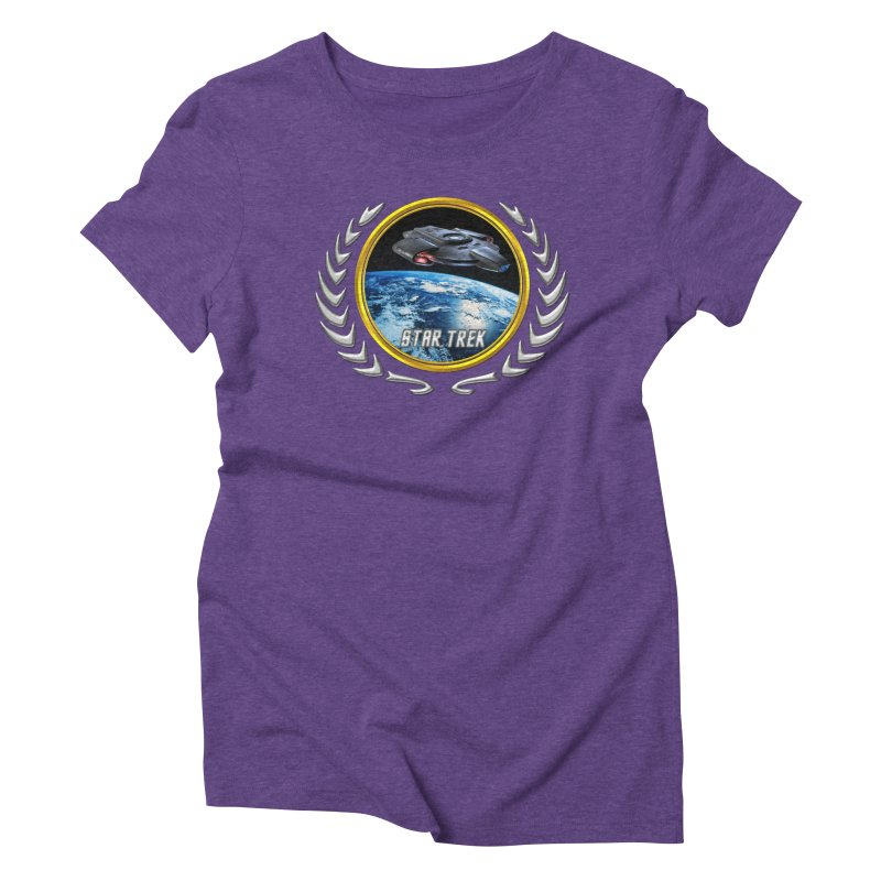 Star trek Federation of Planets defiant Women's Triblend T-Shirt by ratherkool's Artist Shop