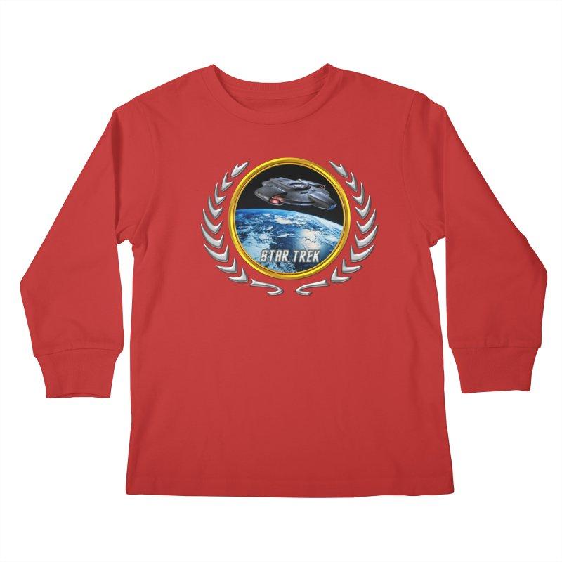 Star trek Federation of Planets defiant Kids Longsleeve T-Shirt by ratherkool's Artist Shop