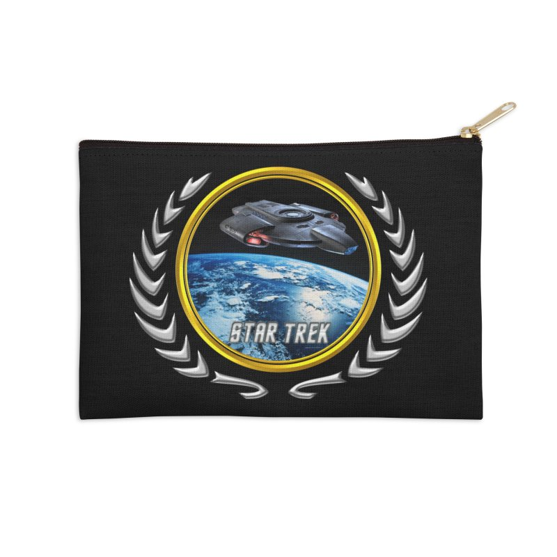 Star trek Federation of Planets defiant Accessories Zip Pouch by ratherkool's Artist Shop