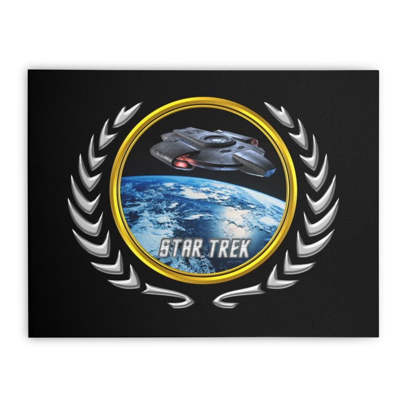 Star trek Federation of Planets defiant Home Stretched Canvas by ratherkool's Artist Shop
