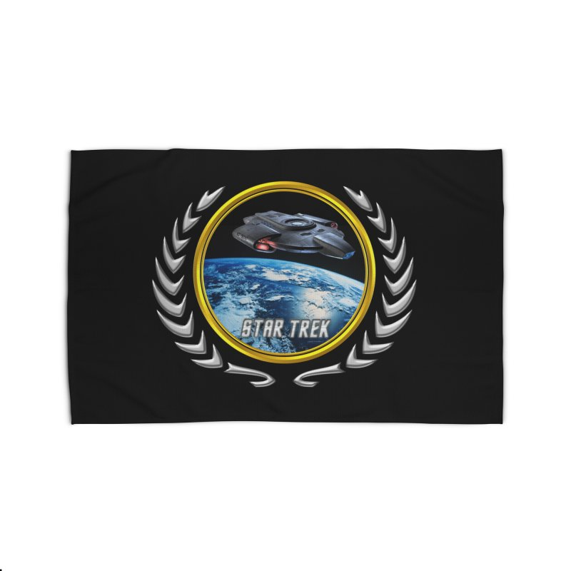 Star trek Federation of Planets defiant Home Rug by ratherkool's Artist Shop