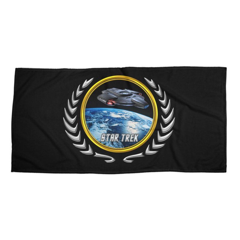 Star trek Federation of Planets defiant Accessories Beach Towel by ratherkool's Artist Shop