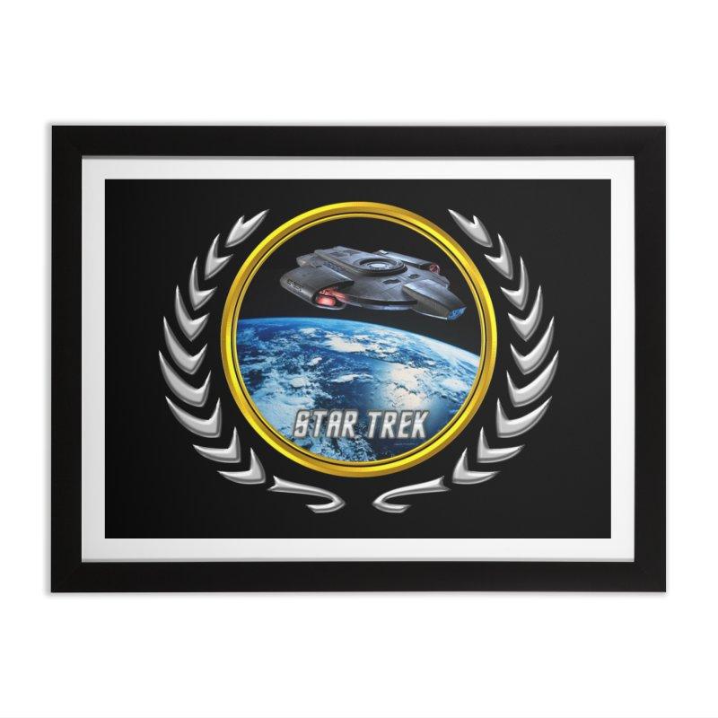 Star trek Federation of Planets defiant Home Framed Fine Art Print by ratherkool's Artist Shop