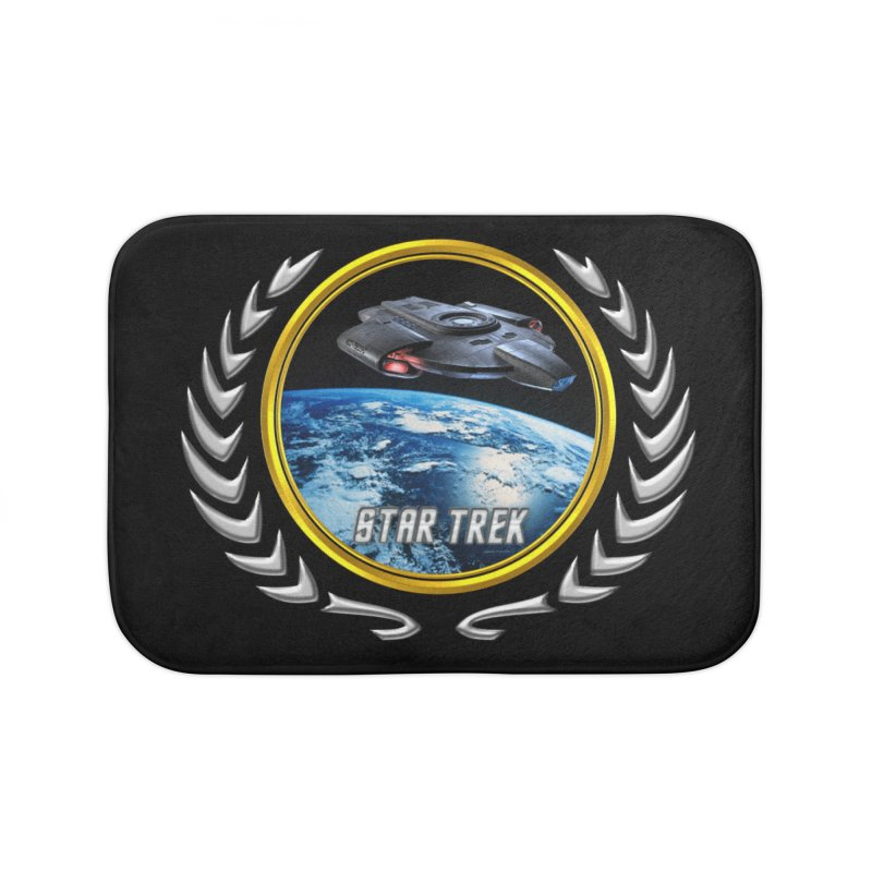 Star trek Federation of Planets defiant Home Bath Mat by ratherkool's Artist Shop