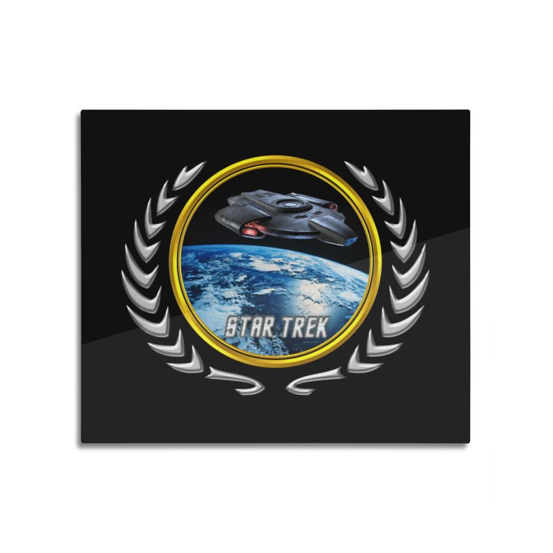 Star trek Federation of Planets defiant Home Mounted Aluminum Print by ratherkool's Artist Shop