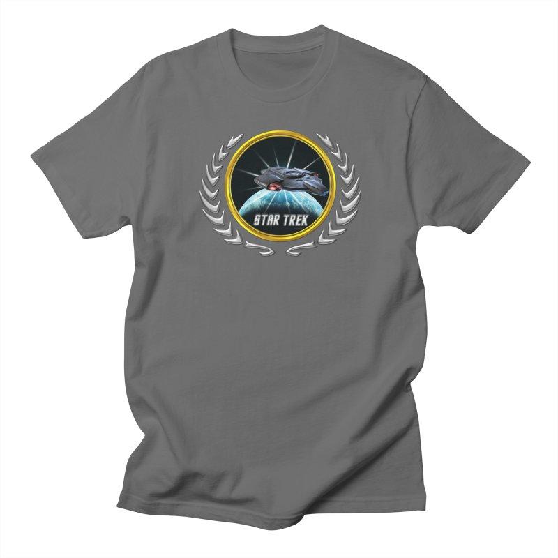 Star trek Federation of Planets defiant 2 in Men's T-Shirt Asphalt by ratherkool's Artist Shop