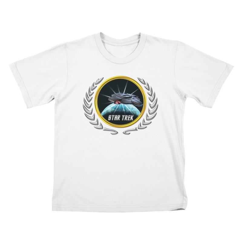 Star trek Federation of Planets defiant 2 Kids T-Shirt by ratherkool's Artist Shop