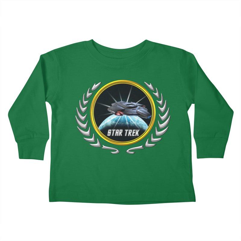 Star trek Federation of Planets defiant 2 Kids Toddler Longsleeve T-Shirt by ratherkool's Artist Shop