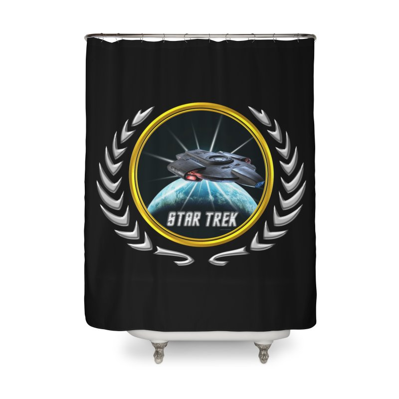 Star trek Federation of Planets defiant 2 Home Shower Curtain by ratherkool's Artist Shop
