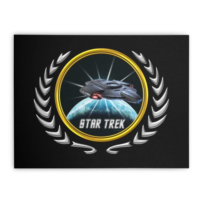 Star trek Federation of Planets defiant 2 Home Stretched Canvas by ratherkool's Artist Shop