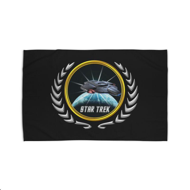 Star trek Federation of Planets defiant 2 Home Rug by ratherkool's Artist Shop