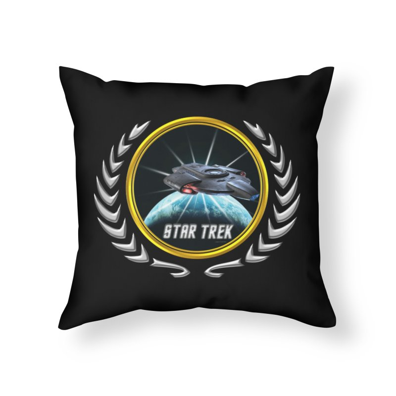 Star trek Federation of Planets defiant 2 Home Throw Pillow by ratherkool's Artist Shop