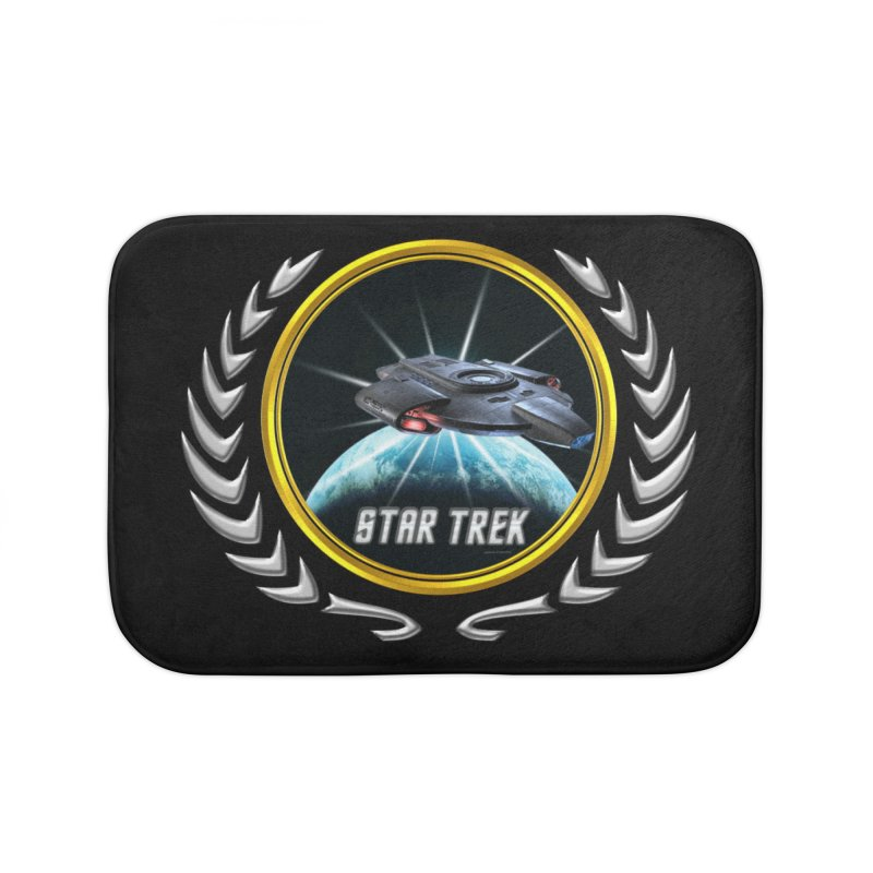 Star trek Federation of Planets defiant 2 Home Bath Mat by ratherkool's Artist Shop