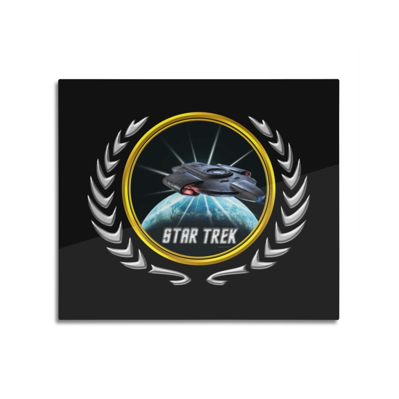 Star trek Federation of Planets defiant 2 Home Mounted Aluminum Print by ratherkool's Artist Shop