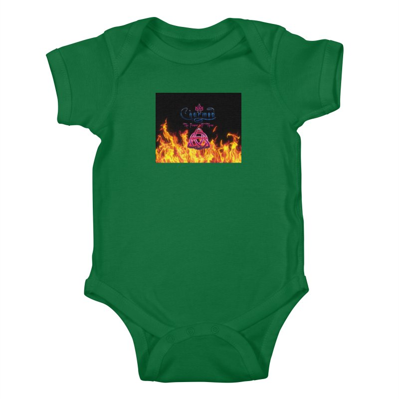 Charmed Holy Fire Triquetra Kids Baby Bodysuit by ratherkool's Artist Shop